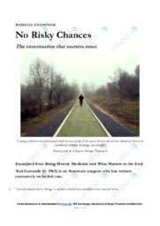 'No Risky Chances'   Essay   10 i karakter