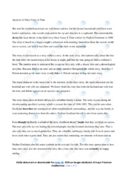 Once Upon A Time | Analytical essay | 10 i karakter