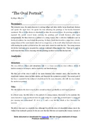 The Oval Portrait | Analytical essay | 12 i karakter