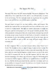 'The Stories We Tell' | Analytical essay | 12 i karakter