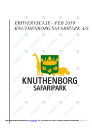 Knuthenborg Safaripark AS   Erhvervscase