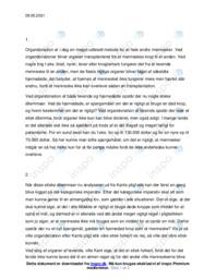 Organdonation | Filosofi | 10 i karakter