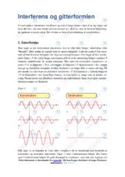 Interferens og gitterformlen | Opgave | 10 i karakter