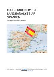 Makroøkonomisk landeanalyse | Spanien | 12 i karakter
