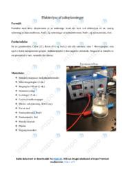 Elektrolyse af saltopløsninger   Opgave   10 i karakter