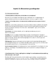 Kapitel 13: Økonomiens grundbegreber | Spørgsmål