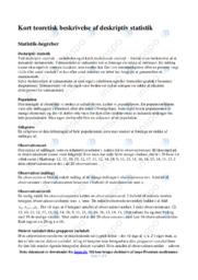 Beskrivelse af deskriptiv statistik | Matematik noter