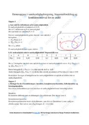 Binomialfordeling og konfidensinterval | Emneopgave