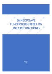 Funktionsbegrebet og linærfunktioner | Emneopgave