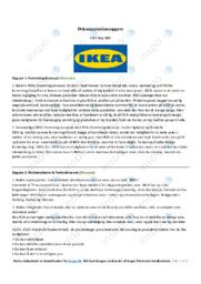 Dokumentationsopgave i afsætning   IKEA   10 i karakter