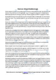 Imercos virksomhedskoncept   Afsætning   12 i karakter
