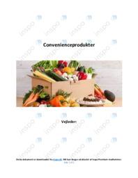 Convenienceprodukter | Afsætning | 10 i karakter