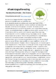Handelsvirksomheden   Den Grønne   Afsætning