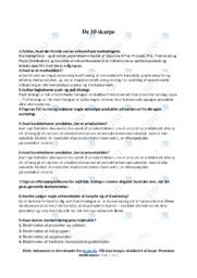 De 10 skarpe | Noter Afsætning Spørgsmål 1-10