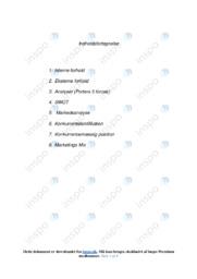 B og O | Analyse | 10 i karakter