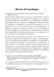 Barons of Copenhagen | Analyse | 10 i karakter