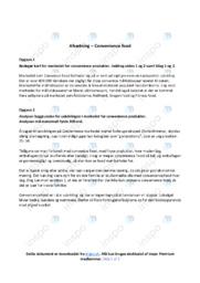 Convenience produkter   Analyse   10 i karakter