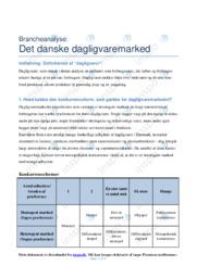 Det danske dagligvaremarked   Analyse   10 i karakter