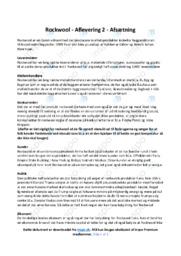 Rockwool   Analyse   10 i karakter