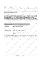 Segmenteringsprocessen | Noter