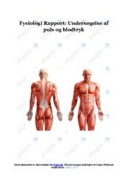 Undersøgelse af puls og blodtryk   Rapport