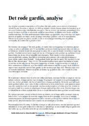 Det røde gardin | Noter Analyse | Amalie Skram