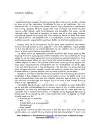 Hedebølge | Noter Analyse | Helle Helle