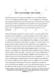 Det rummelige menneske | Analyse | Jens blendstrup