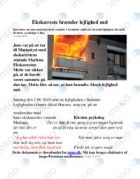 Ekskæreste brænder lejlighed ned   Artikel