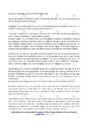 Hedebølge | Analyse | Helle Helle | 10 i Karakter