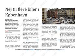 Nej til flere biler i København | Artikel