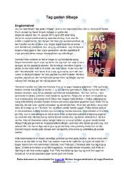 Tag gaden tilbage | Analyse | 10 i karakter