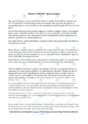 Obama's 2020 DNC speech | Analysis