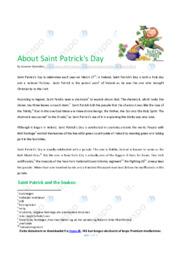 Saint Patrick's Day   Essay