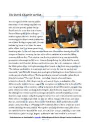 The Derek Chauvin verdict   Essay