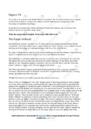 The Future of Retail | Speech