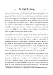To Cuddle Amy   Analytical essay   10 i karakter