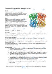 Hydrogenperoxid og katalase fra gær | Kemirapport
