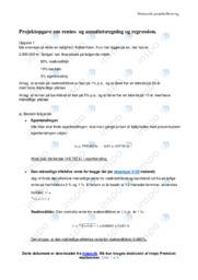 Rentes- og annuitetsregning og regression | Noter
