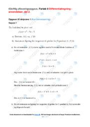 Differentialregning   Emneopgave