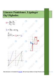 Lineære Funktioner, Ligninger Og Uligheder | Emneopgave
