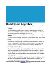 Buddhisme begreber | Noter