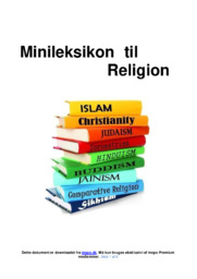 Minileksikon til Religion | Gode noter og begreber