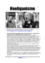 Hooliganisme   Samfundsfagsopgave   10 i karakter