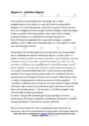 Politiske rådgivere | Opgave | 10 i karakter