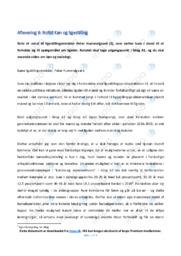 Notat om Køn og ligestilling | Samfundsfagsopgave