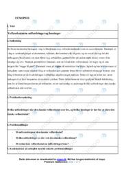 Velfærdsstatens udfordringer og løsninger | Synopsis