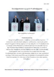 Socialdemokratiet og covid-19 udfordringerne | SRO