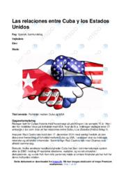 Forholdet mellem Cuba og USA | SRP | 12 i karakter