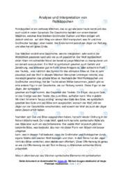 Analyse und Interpretation von Rotkäppchen | 12 i karakter
